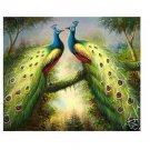 "Handicrafts Repro oil painting:Beautiful peacock 24x36"""