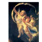 "Handicrafts Repro oil painting:""THREE LITTLE ANGEL"""