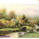 "Handicrafts Art Repro oil painting:""Lamplight Village"""