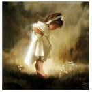 "Handicrafts Repro oil painting:""Dandelion little girl "" 20x24 Inch"