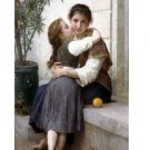 """Handicrafts produced paintings:"""" sister kiss24X36."""""""