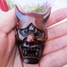 Boxwood carving Japan prajna B of a face hang