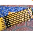 Chinese 7 Old wood Handwork Carving Super Brush pen sets