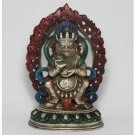 CHINESE HANDWORK DEITY WHITE COPPER STATUE