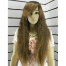 Fascinating new good sexy long brown fleeciness wig