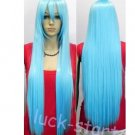 Fashion New Long Light blue Cosplay Party Straight Wigs