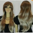 2012 new hybrid brown short long wigs