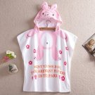 Cartoon Kids Towel cotton towel and beach towels baby cloak baby bathrobe (rabbit)