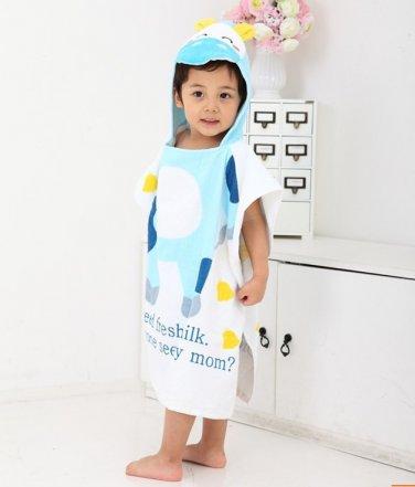 Cartoon Kids Towel cotton towel and beach towels baby cloak baby bathrobe (calf)
