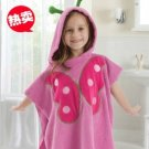 Cartoon Kids Towel cotton towel and beach towels baby cloak baby bathrobe (butterfly)