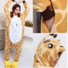 Hot New Kigurumi pajamas anime role playing costume Unisex Adult jumpsuit dress (giraffe)