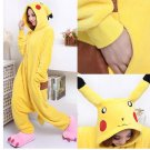 Hot New Kigurumi pajamas anime role playing costume Unisex Adult jumpsuit dress (Pikachu)