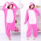 new kigurumi pajamas cosplay costume adult men and women's dress (pink Lilo And Stitch)