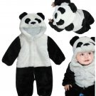 Baby Panda winter thick coral velvet pajamas men and women baby animal Siamese Children Romper