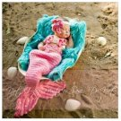 Korean version of the new baby photo baby birthday photo studio photography clothing knitted mermaid