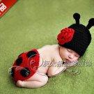 baby photo studio photography clothing handmade knitted baby ladybug birthday
