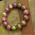 Natural elegant Brazilian 12 mm chalcedony bracelet