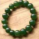 Exquisite natural green jade amulet Bracelet 14mm