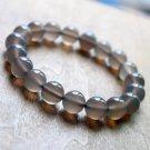Natural Gray Agate Bracelet Charms Bracelet 10mm