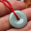 Hand-carved natural jade pendant necklace amulets peace buckle