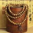 8mm * 108 beads bracelet wooden wings pendant rosary beads bracelet car