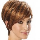 Wigs Fashion Women Party Sexy Short Straight Brown Mixed Synthetic Hair Full Wig