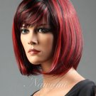 Sexy Fashion Women Party Sexy Short Straight Red Mixed Synthetic Full Wig