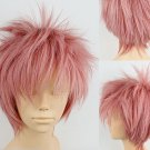 New wig Cosplay Smoke pink short Party wigs