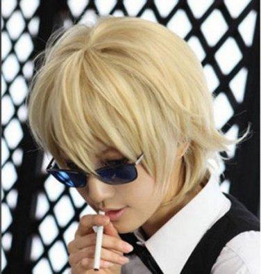 New wig Cosplay DRRR light Blonde Short Heat wig