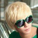 New wig Cosplay Short Blonde Man Wig