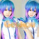 New wig Cosplay VOCALOID3 Azury Green Blue Purple Gradien Color Heat Wig