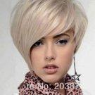 New Light Blonde Straight Wavy Fashion Short Women's Wig