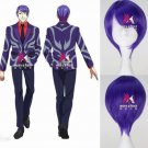 Tokyo Ghoul Shuu Tsukiyama Short Straight Purple Anime Cosplay Costume Wig