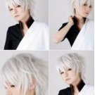 One Piece Prussia Fashion Short Silvery White Straight Cosplay Party Wig