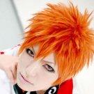 Bleach Kurosaki Ichigo Orange Short Anime Cosplay Party Hair Wig