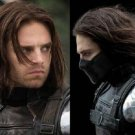 Captain America 2 COS wig winter warrior Short dark brown wavy wig Cosplay Party