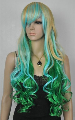 New Wig Long Curly Hair Color Wigs
