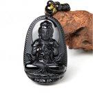 obsidian Big Buddha bodhisattva jade necklace pendant
