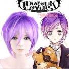 DIABOLIK LOVERS Kanato Sakamaki Purple Short Anime Cosplay Hair Wig