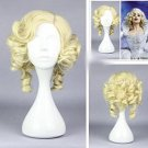 HOT Grade Synthetic Hair Cinderella Fairy Godmother 30cm Golden Cosplay Wig