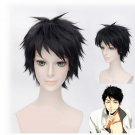 Anime Wig Free! Yamazaki Sosuke Black Short Straight Hair Cosplay Wig