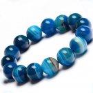 Blue stripes agate natural jade bracelets sardonyx bunch of men and women chalcedony bracelet