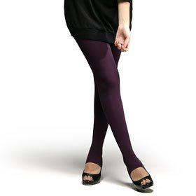 Opaque Pantyhose Stirrup Sheer Tights Warm Stockings Leggings Dark Purple Women