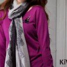 Knitwear Pullover Purple Knit Sweater Top Wool Crew Neck Long Sleeve Women