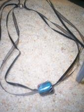 Glass Bead on Ribbon