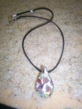 Glass Pendant on Cord
