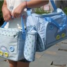 2 Multi-Function Baby Tote Nappy Bags + Accessories (Sky Blue) - HOT & NEW
