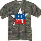 "Small - Camouflage - ""Kix 100.9"" 100% Cotton T-shirt"