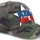 """S/M - Camouflage - """"Kix 100.9"""" FlexFit Hat"""