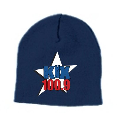 """Kix 100.9"" Navy Yupoong Winter Hat"